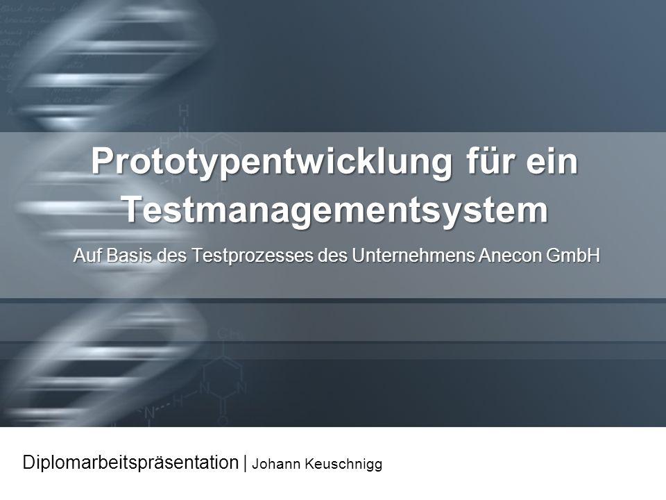 Prototypentwicklung für ein Testmanagementsystem