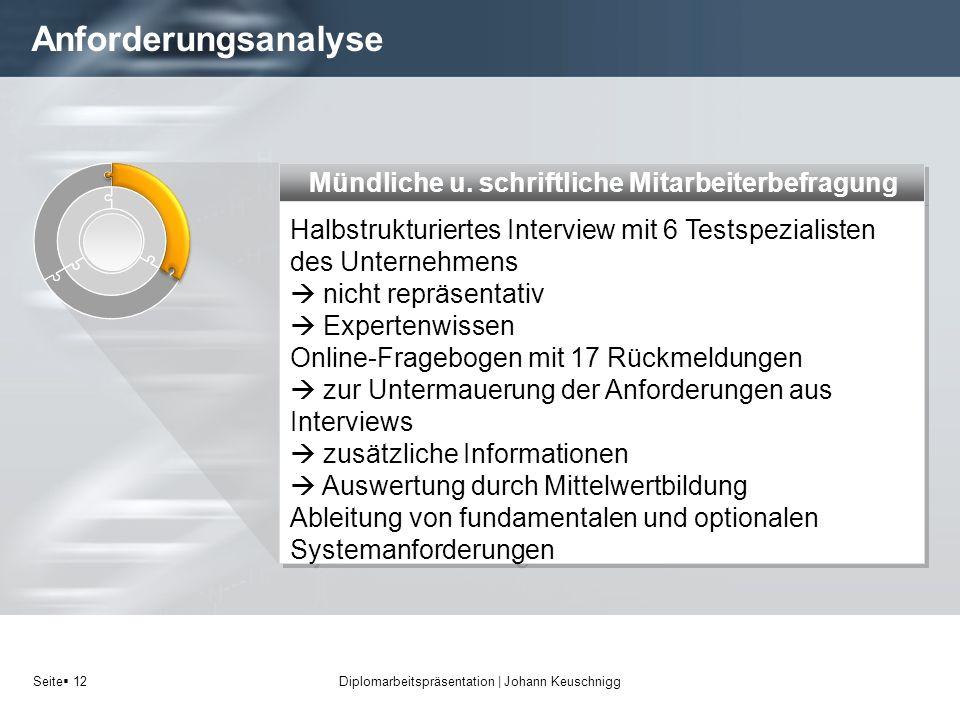 Diplomarbeitspräsentation | Johann Keuschnigg