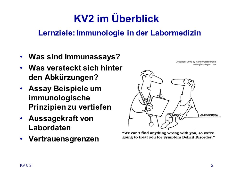 Lernziele: Immunologie in der Labormedizin