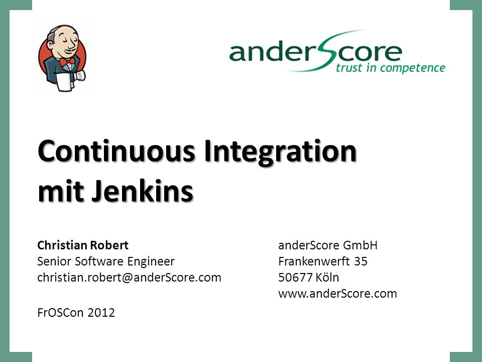 Continuous Integration mit Jenkins