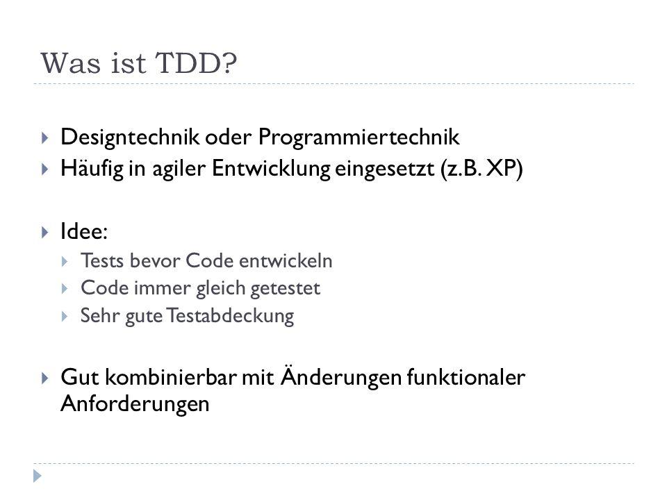 Was ist TDD Designtechnik oder Programmiertechnik