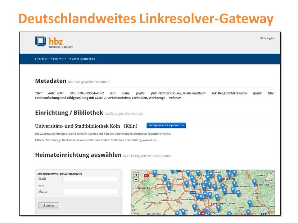 Deutschlandweites Linkresolver-Gateway