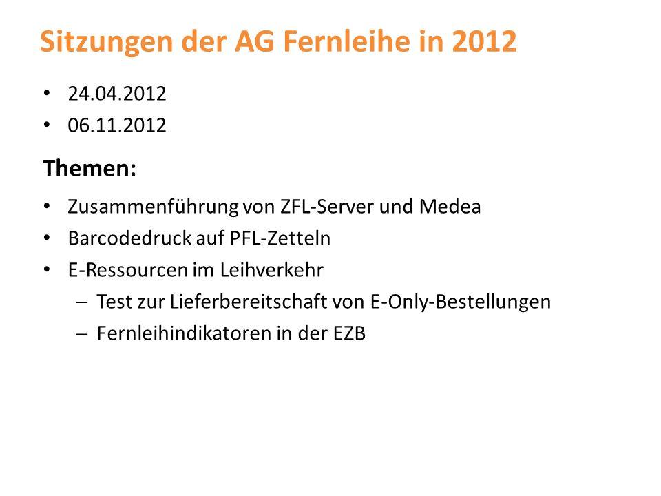 Sitzungen der AG Fernleihe in 2012