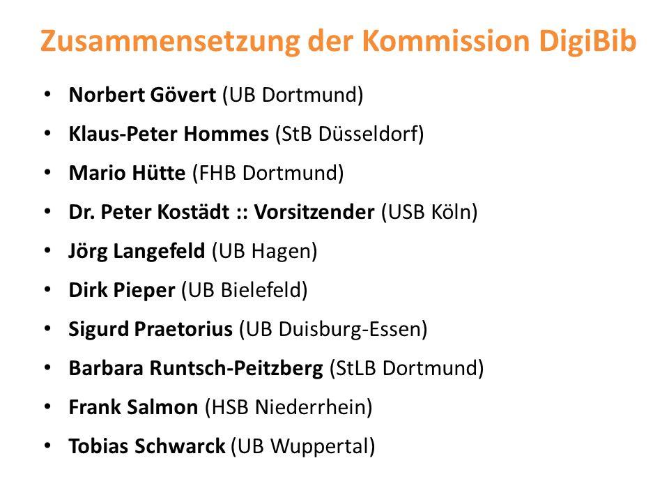 Zusammensetzung der Kommission DigiBib