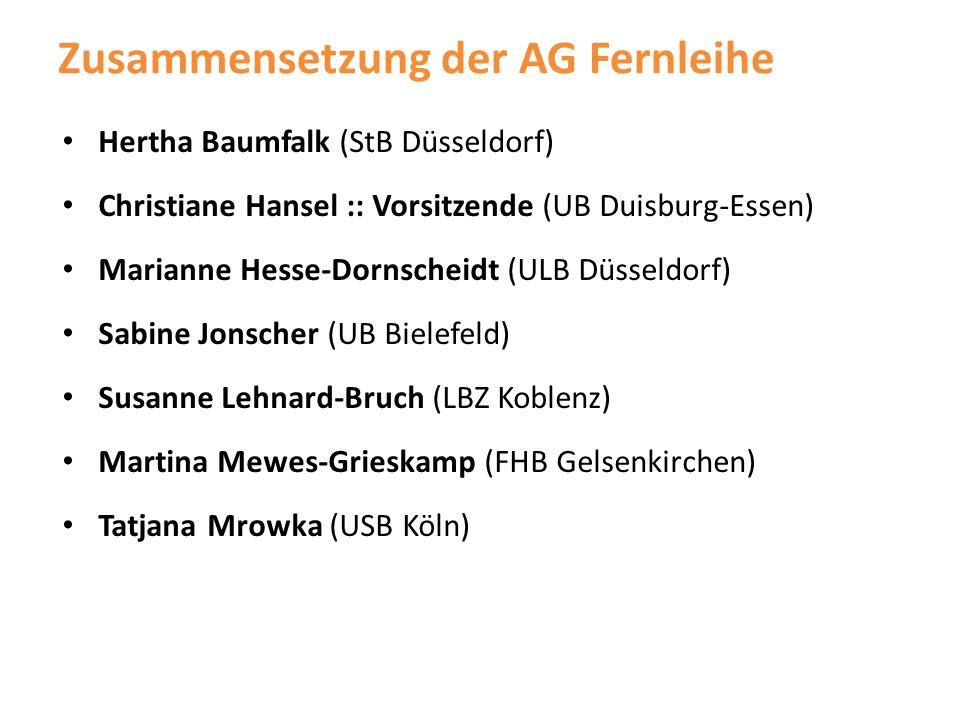 Zusammensetzung der AG Fernleihe