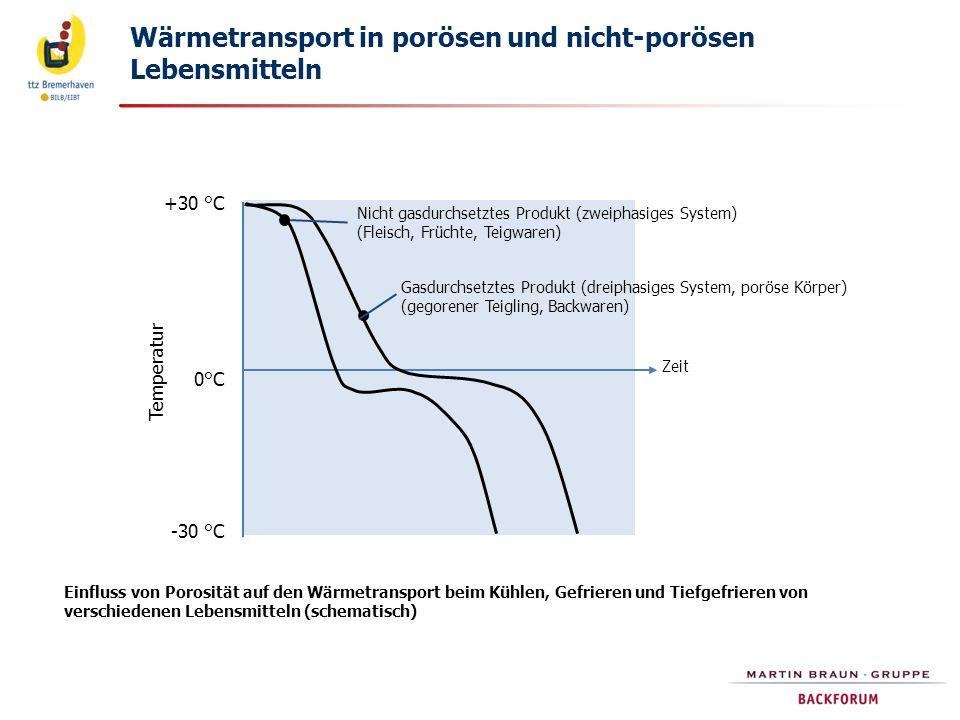 Wärmetransport in porösen und nicht-porösen Lebensmitteln
