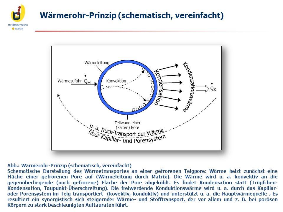 Wärmerohr-Prinzip (schematisch, vereinfacht)