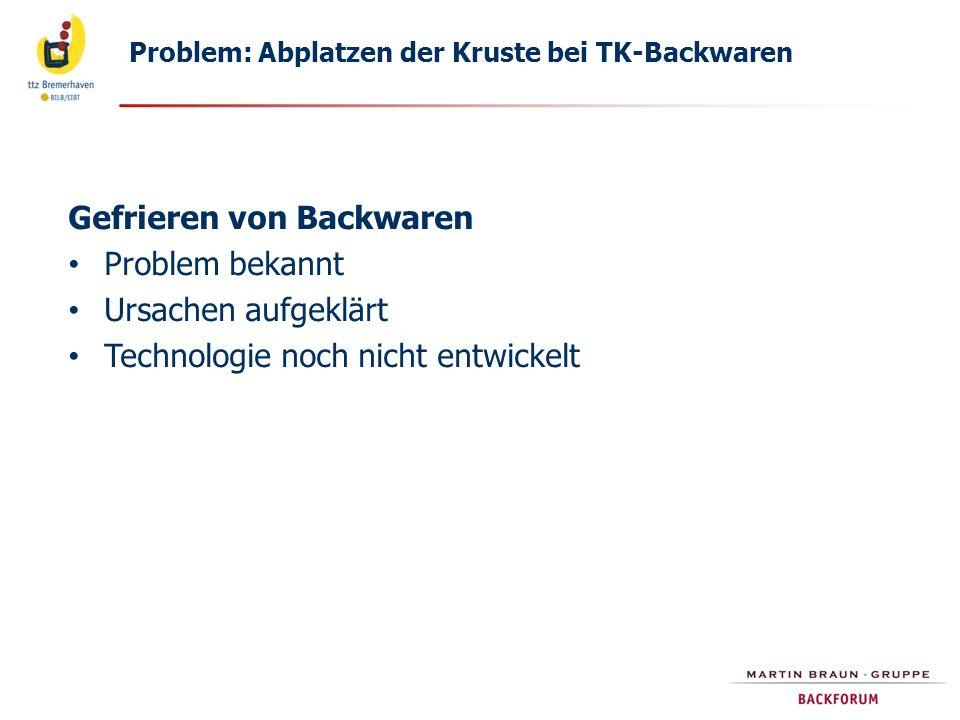 Gefrieren von Backwaren Problem bekannt Ursachen aufgeklärt