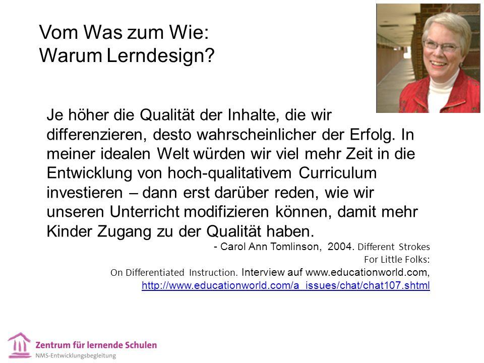 Vom Was zum Wie: Warum Lerndesign