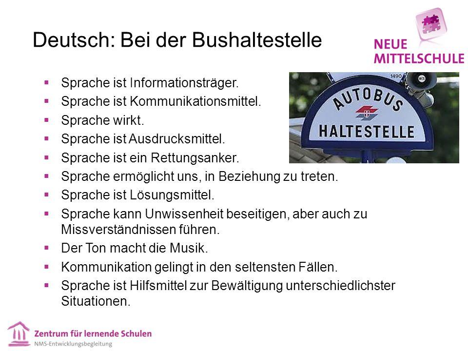 Deutsch: Bei der Bushaltestelle