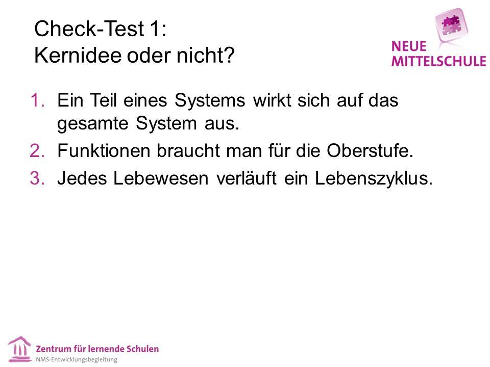 Check-Test 1: Kernidee oder nicht