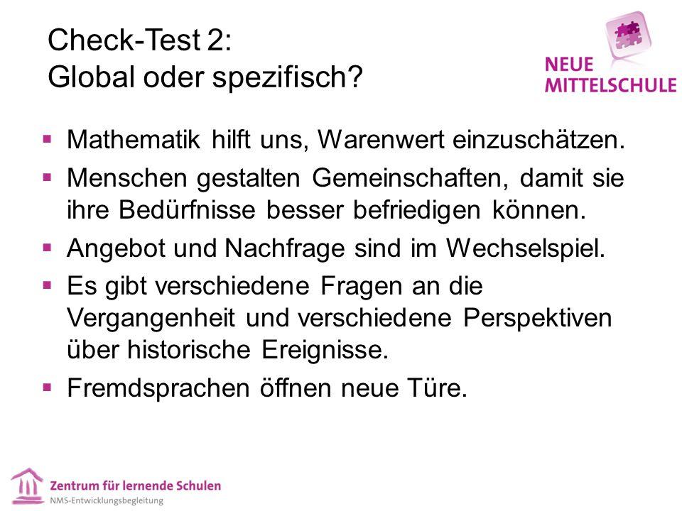Check-Test 2: Global oder spezifisch