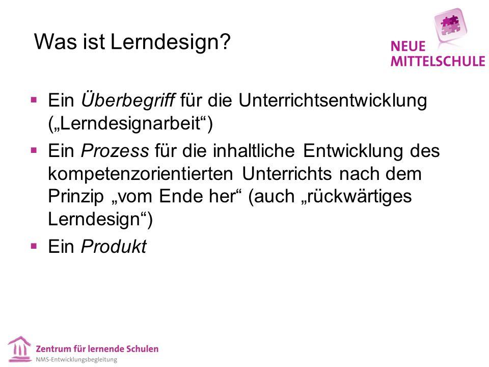 """Was ist Lerndesign Ein Überbegriff für die Unterrichtsentwicklung (""""Lerndesignarbeit )"""