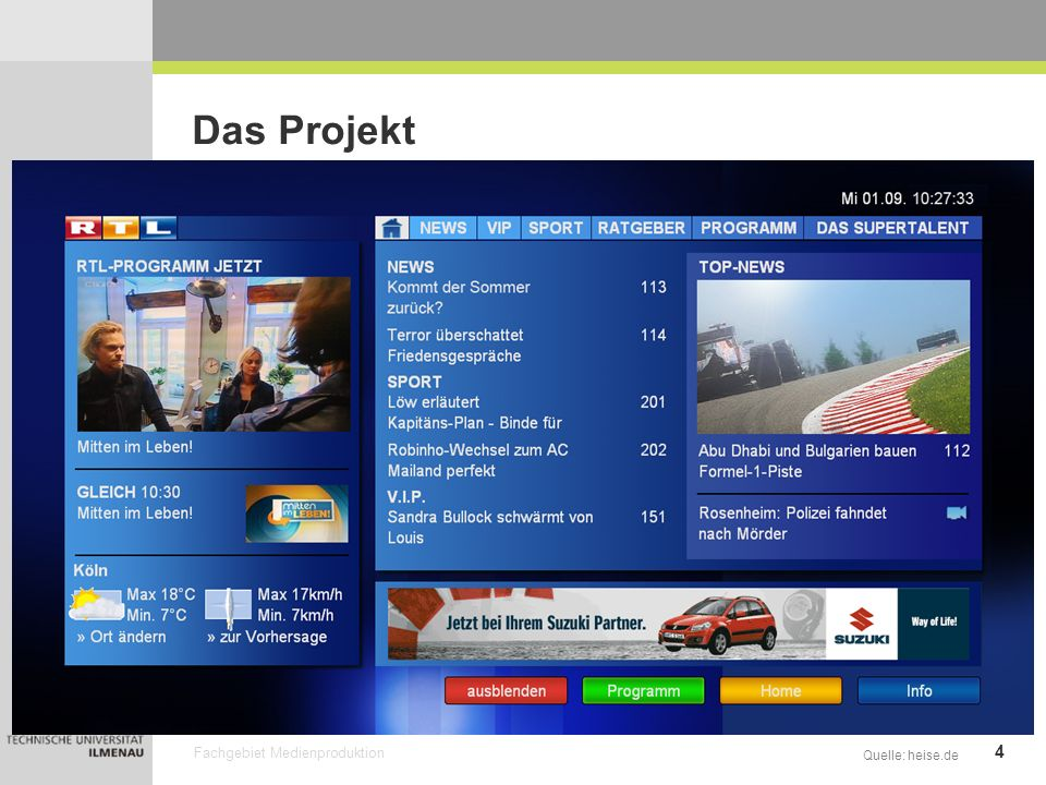 Das Projekt Quelle: heise.de