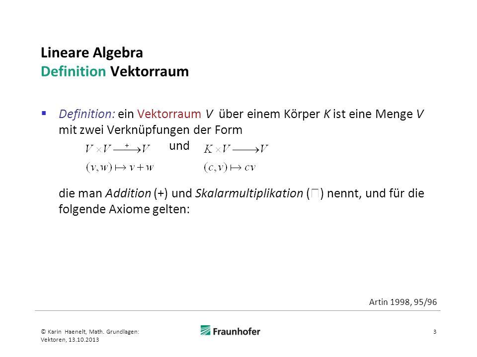 Lineare Algebra Definition Vektorraum
