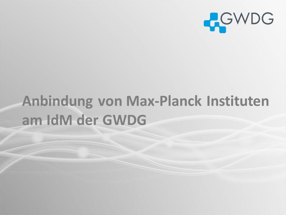 Anbindung von Max-Planck Instituten