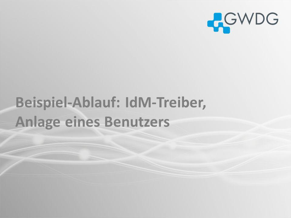 Beispiel-Ablauf: IdM-Treiber, Anlage eines Benutzers
