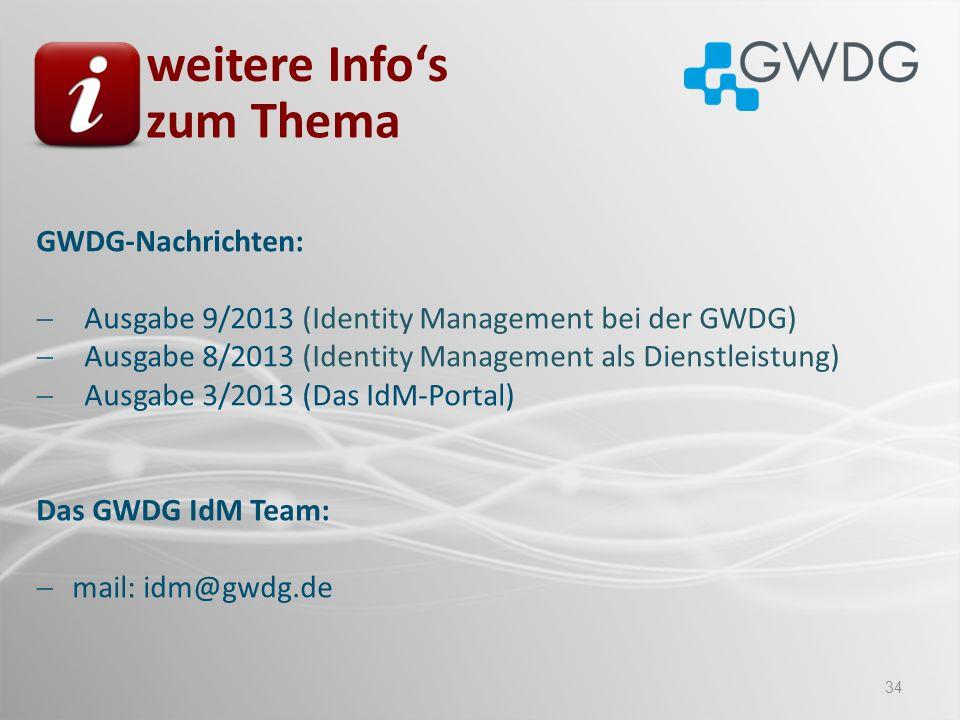 weitere Info's zum Thema GWDG-Nachrichten: