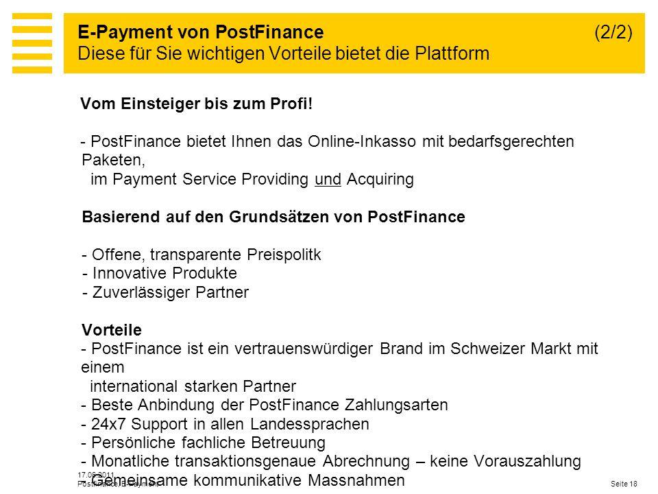 E-Payment von PostFinance