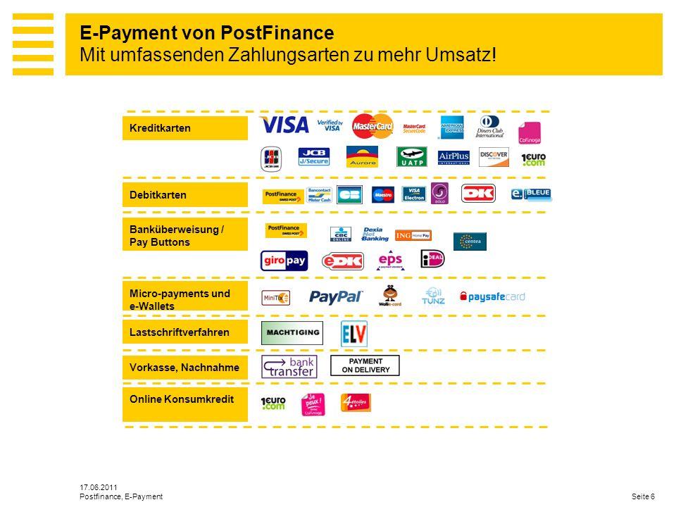 E-Payment von PostFinance Mit umfassenden Zahlungsarten zu mehr Umsatz!