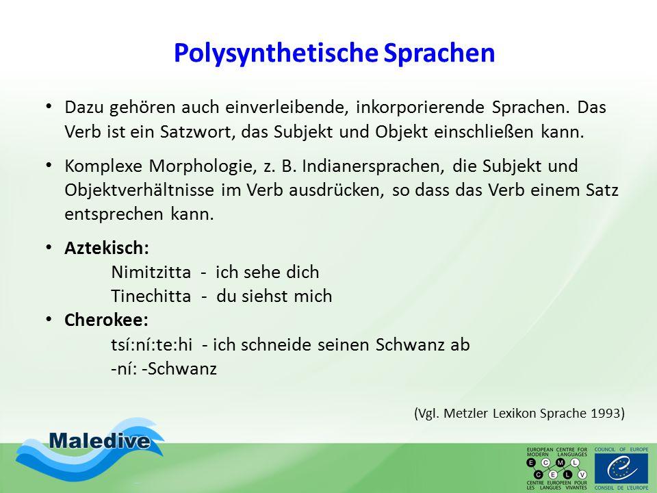 Polysynthetische Sprachen