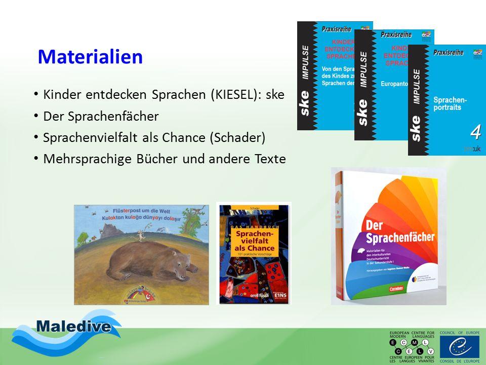 Materialien Kinder entdecken Sprachen (KIESEL): ske Der Sprachenfächer