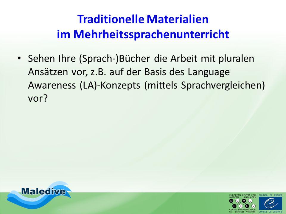 Traditionelle Materialien im Mehrheitssprachenunterricht