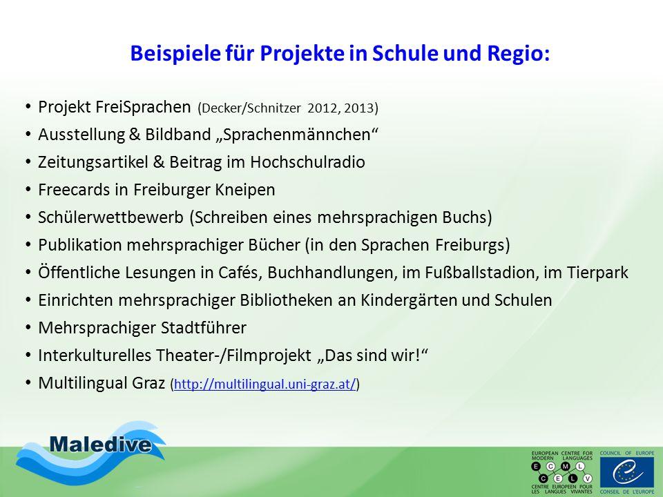 Beispiele für Projekte in Schule und Regio: