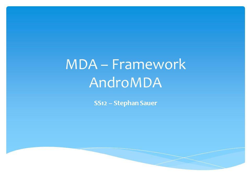 MDA – Framework AndroMDA
