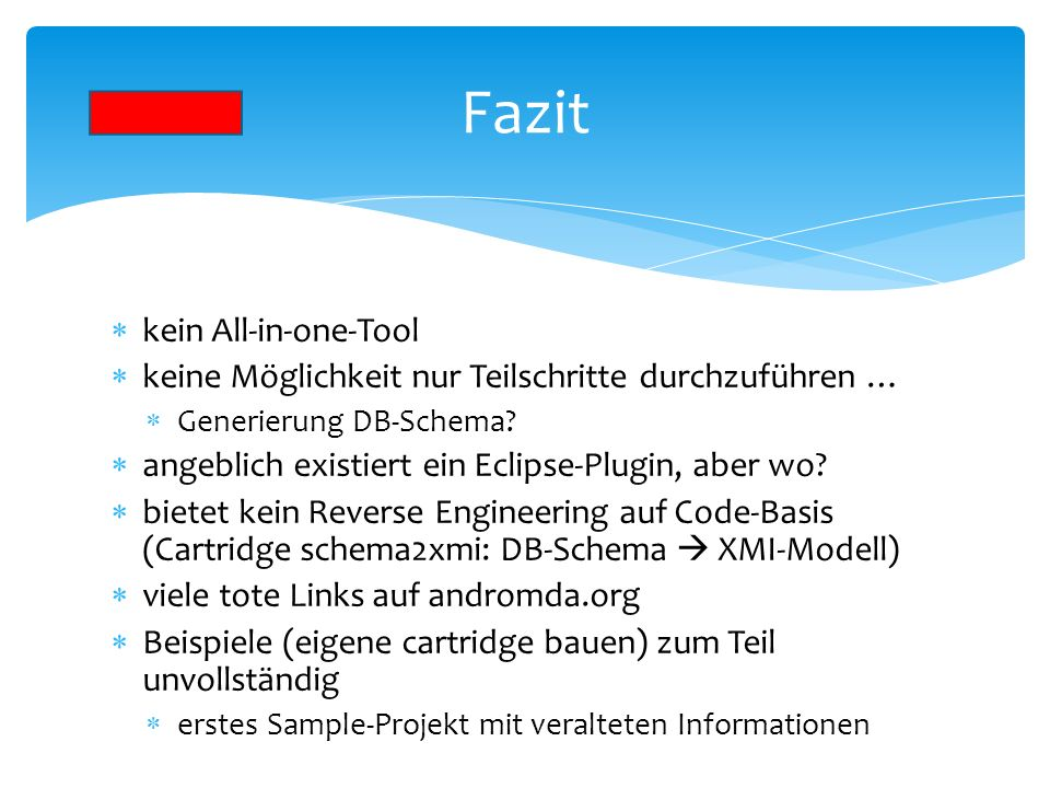 Fazit kein All-in-one-Tool