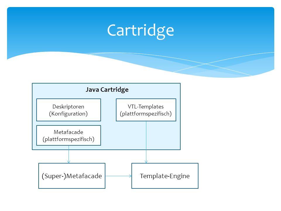 Cartridge Java Cartridge (Super-)Metafacade Template-Engine