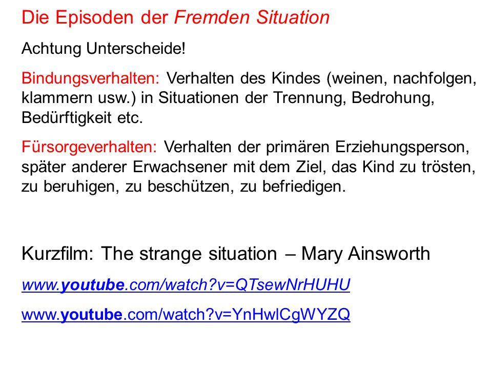Die Episoden der Fremden Situation