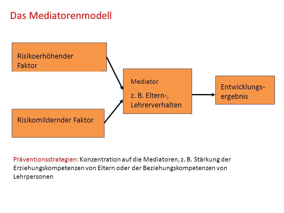 Das Mediatorenmodell Risikoerhöhender Faktor