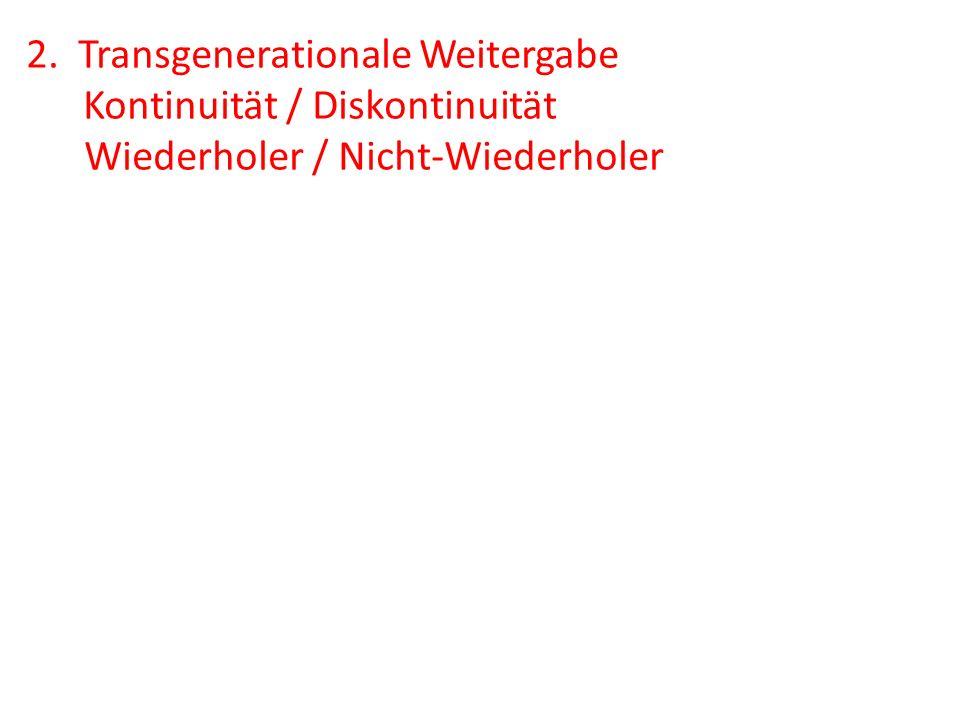 2. Transgenerationale Weitergabe