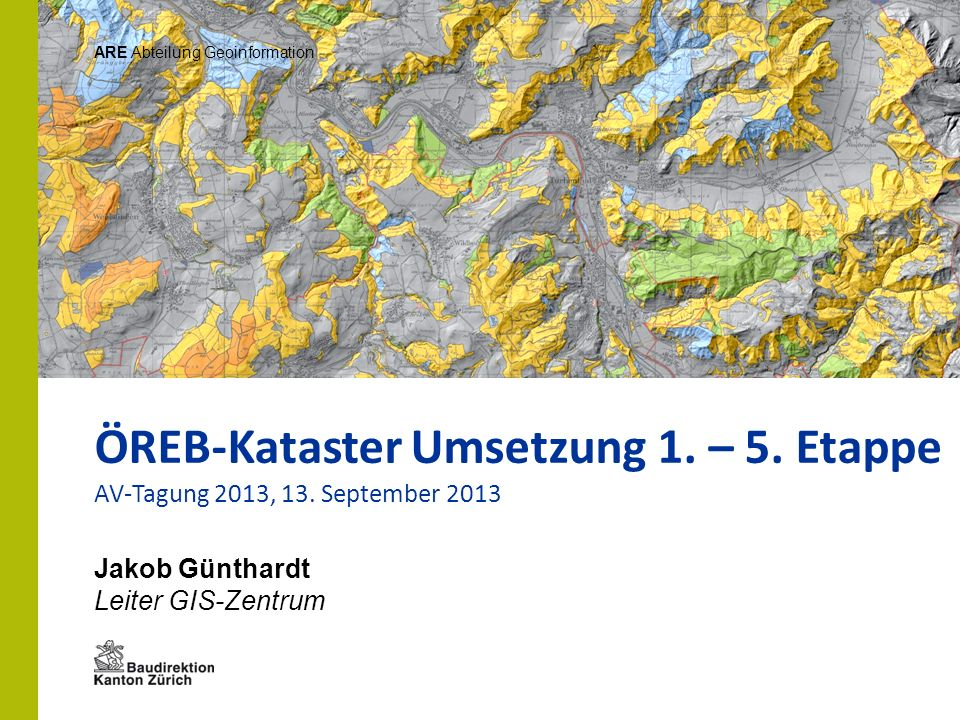 ÖREB-Kataster Umsetzung 1. – 5. Etappe