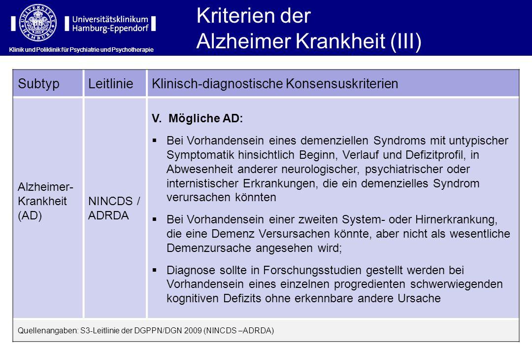 Alzheimer Krankheit (III)
