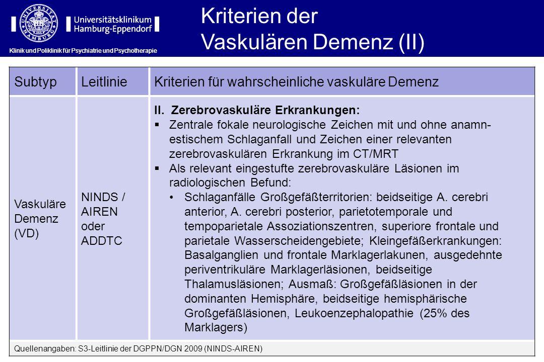 Vaskulären Demenz (II)
