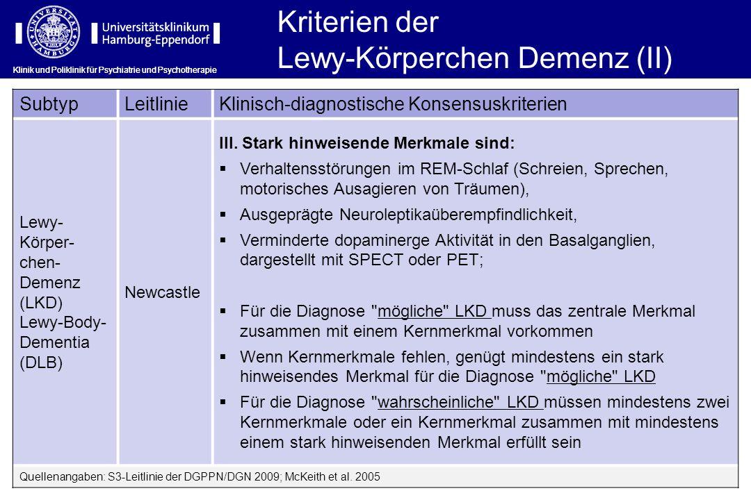 Lewy-Körperchen Demenz (II)