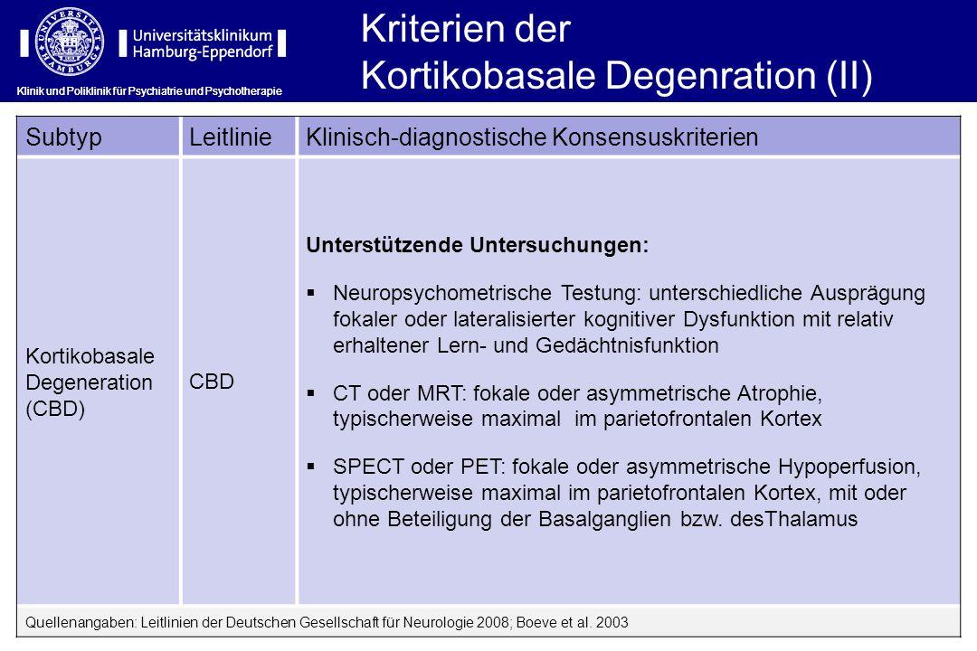 Kortikobasale Degenration (II)
