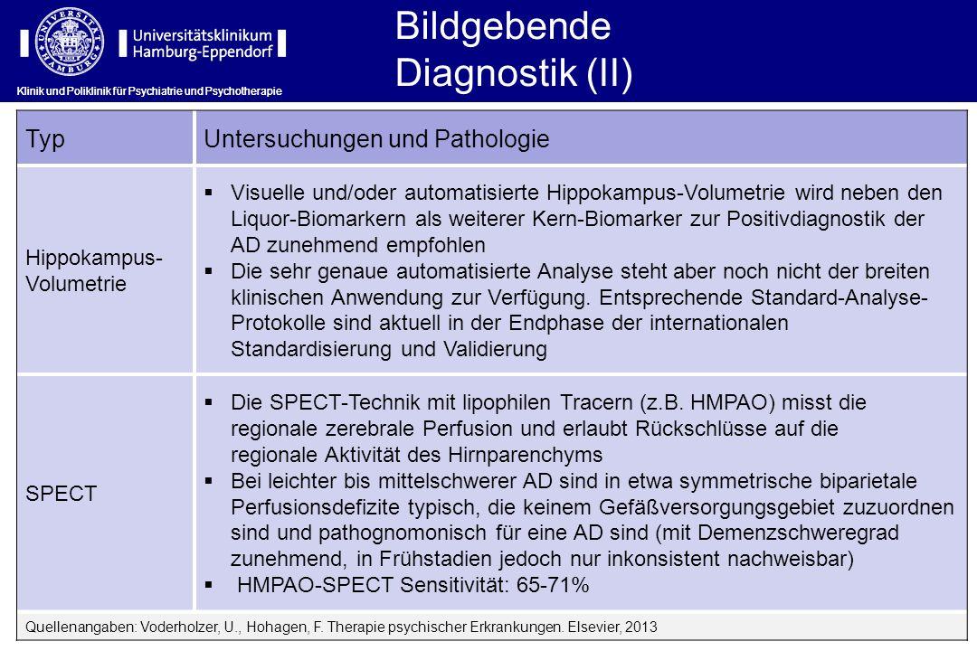 Bildgebende Diagnostik (II) Typ Untersuchungen und Pathologie