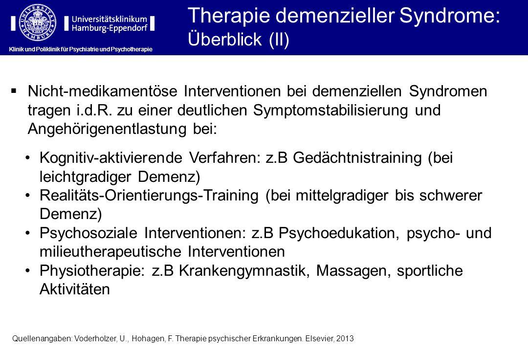 Therapie demenzieller Syndrome: