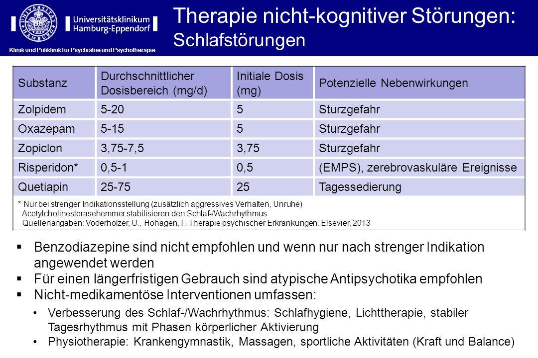 Therapie nicht-kognitiver Störungen: