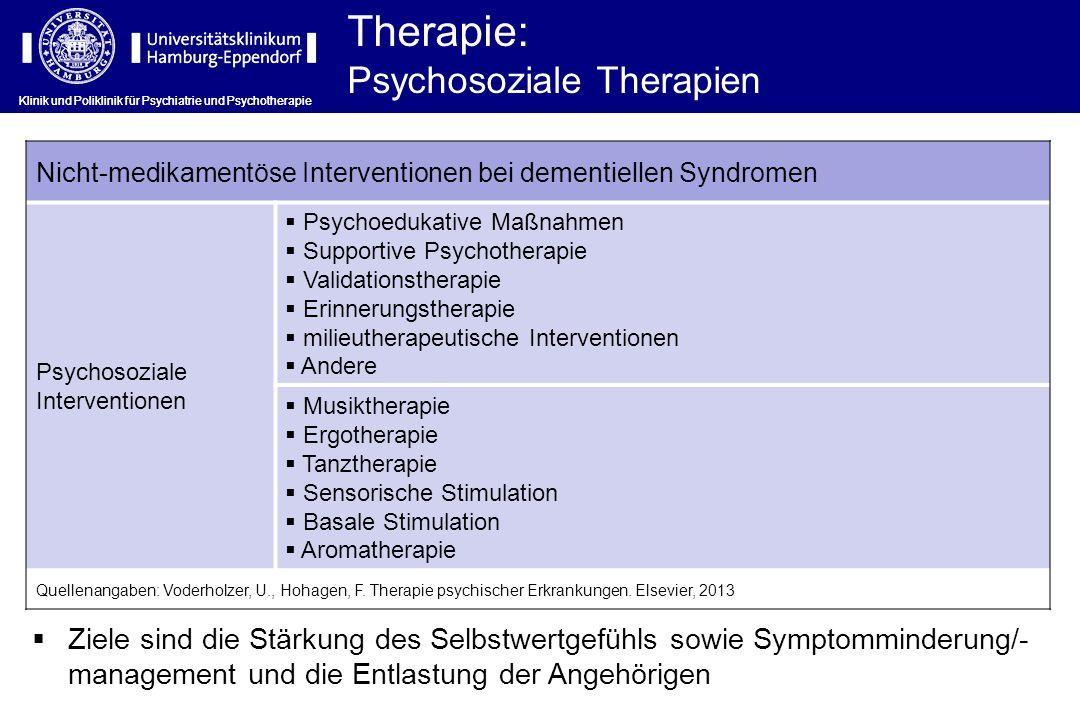Therapie: Psychosoziale Therapien