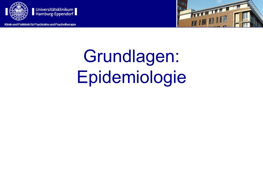 Grundlagen: Epidemiologie