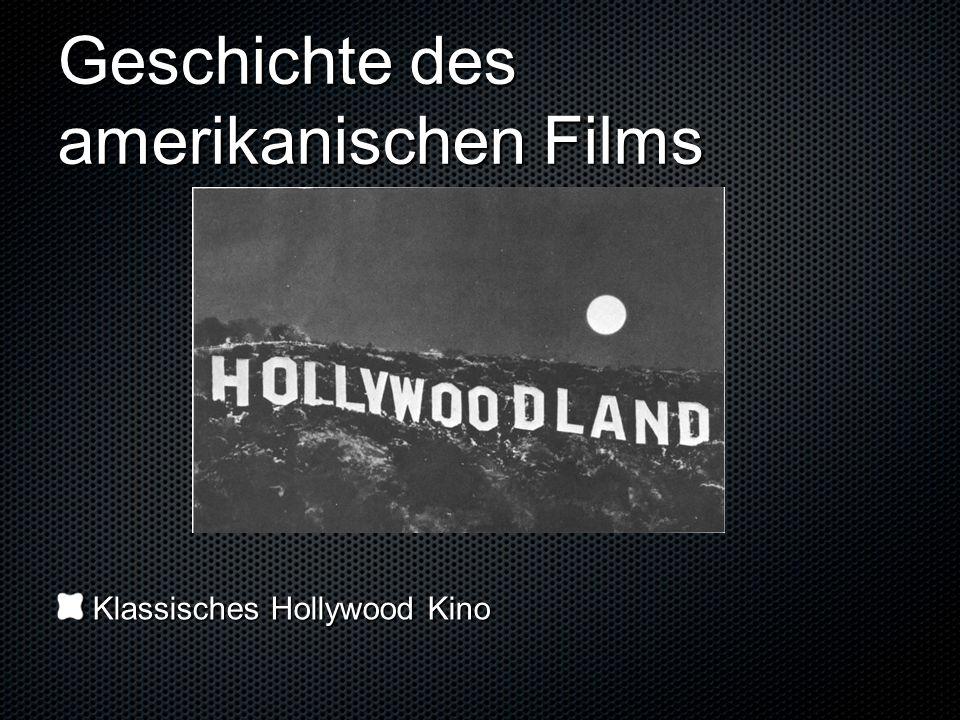 Geschichte des amerikanischen Films