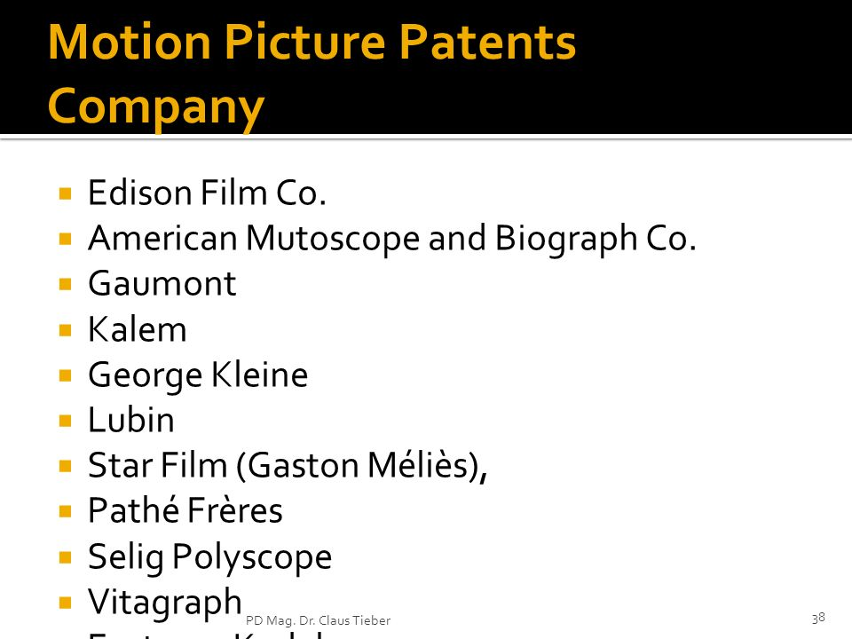 Motion Picture Patents Company