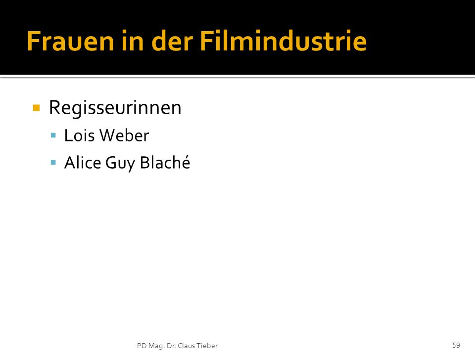Frauen in der Filmindustrie