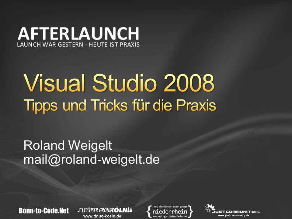 Visual Studio 2008 Tipps und Tricks für die Praxis