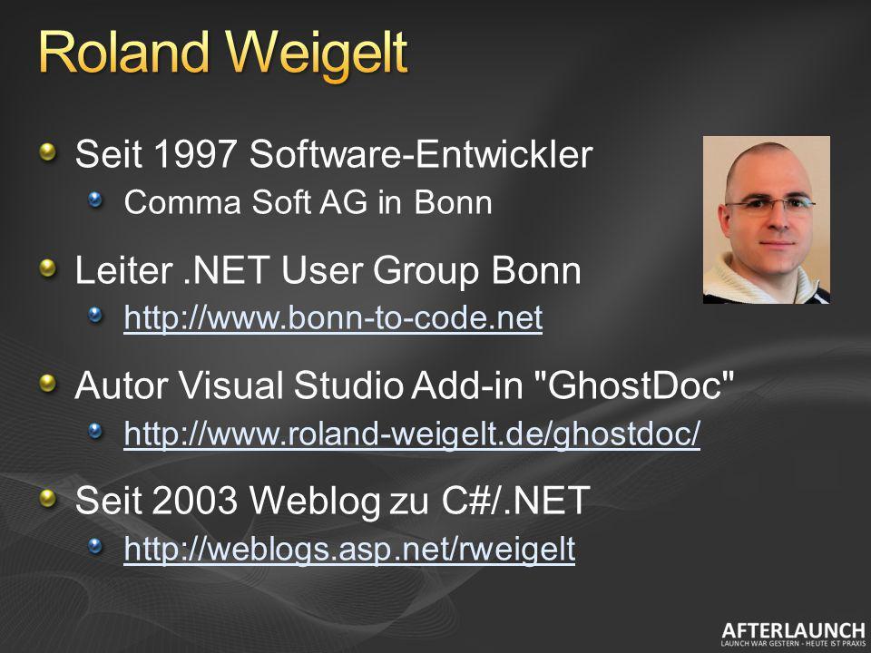 Roland Weigelt Seit 1997 Software-Entwickler