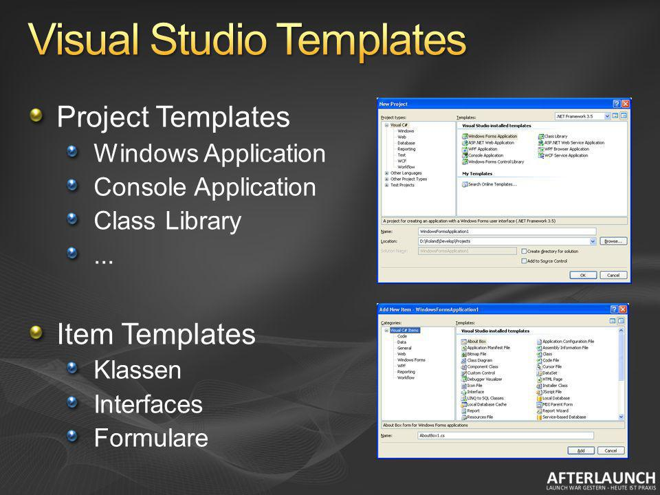 Visual Studio Templates